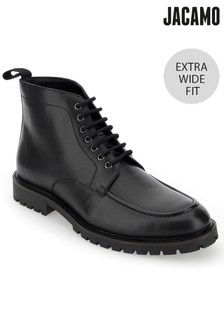 Jacamo Extra Wide Fit Leather Lace Up Seam Boot