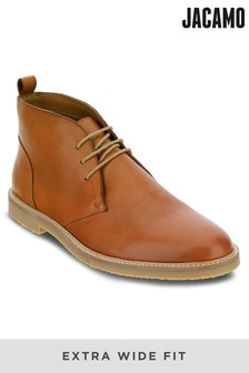 Jacamo Extra Wide Fit Leather Chukka Boot