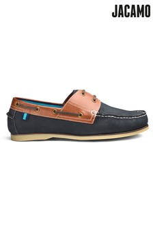 Jacamo Extra Wide Fit Leather Classic Boat Shoe