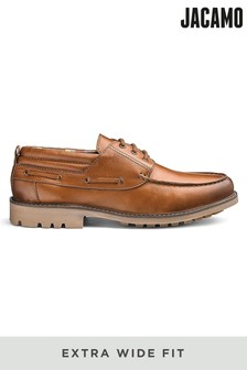 Jacamo Extra Wide Fit Cleated Leather Boat Shoe