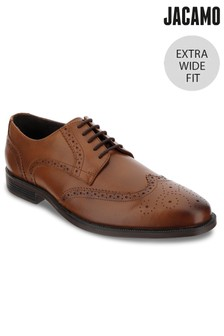 Jacamo Extra Wide Fit Leather Classic Round Toe Brogue
