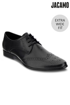 Jacamo Extra Wide Fit Leather Formal Brogue