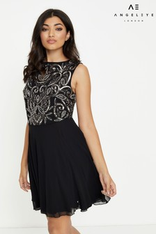 Angeleye Embellished Bodice Sleeveless Mini Dress