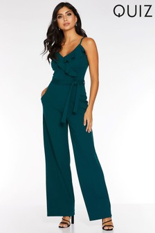 Quiz Frill Neck Strappy Palazzo Jumpsuit