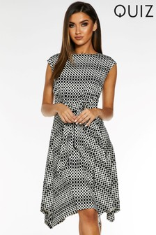 Quiz Belted Midi Dress