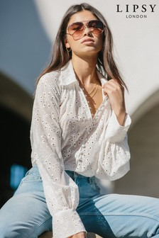 Lipsy Button Front Blouse