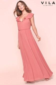Vila Sleeveless Maxi Frill Dress