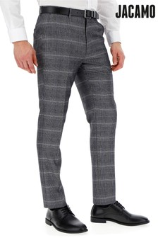 Jacamo Plus Size Check Suit Trousers