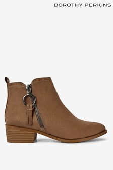 Dorothy Perkins Side Ring Zip Boots