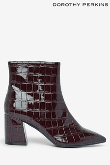 Dorothy Perkins Croc Pointed Block Heel Boots