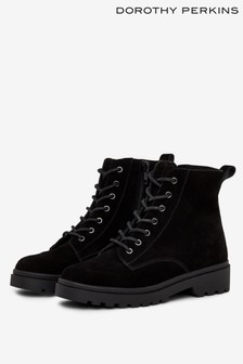 Dorothy Perkins Leather Lace Up Hiker Suede Boots