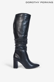 Dorothy Perkins Khloe Point Ruche Long Pull On Boot