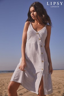 Lipsy Stripe Assymetric Dress