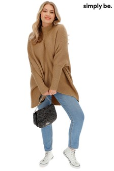 Simply Be High Neck Ribbed Jumper