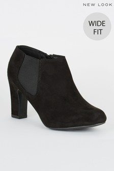 New Look Wide Fit Block Heel Chelsea Shoe Boot