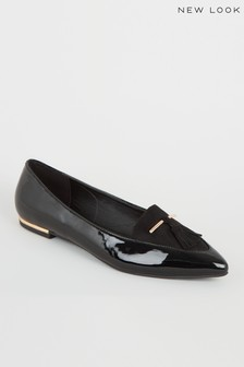 New Look Patent Tassel Trim Loafer