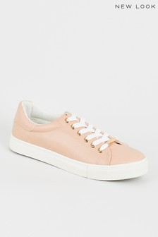 New Look PU Lace-Up Trainers