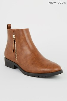 New Look PU Chelsea Ankle Boots