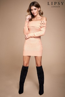 Lipsy Bardot Eyelet Tunic