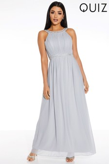 Quiz Beaded High Neck Sleeveless Maxi Dress