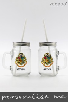 Personalised Harry Potter Hogwarts Drinking Glass By YooDoo