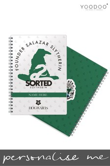 Personalised Harry Potter House Pride Slytherin A5 Notepad By YooDoo
