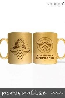 Personalised Wonder Woman Gold Mug by YooDoo