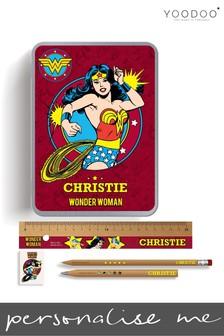 Personalised Wonder Woman Stationery Tin By YooDoo