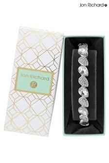 Jon Richard Crystal Pear Stretch Bracelet - Gift Boxed