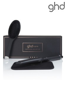 ghd Creative Curl Wand with Oval Brush, Box & Heat Mat - Worth Over £150