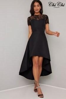 Chi Chi London Dip Hem Dress