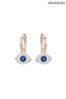 Swarovski Symbolic Evil Eye Hoop Pierced Earrings