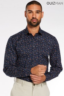 Quizman Long Sleeve Ditsy Print Shirt