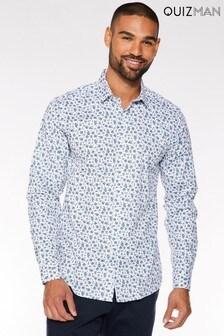 Quizman Long Sleeve Ditsy Print Shirt