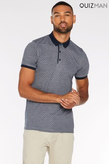 Quiz Man Contrast Colour Polo