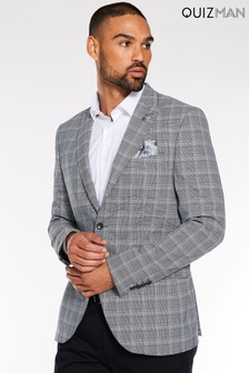 Quizman Two Button Check Blazer