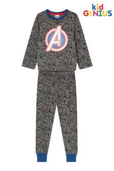 Kids Genius AOP Avengers Long Sleeve long Leg PJ Set