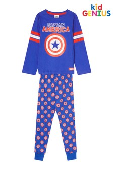 Kids Genius Captain America Character PJ Set