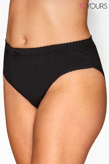 Yours Curve High Leg Briefs - Pack Of 5