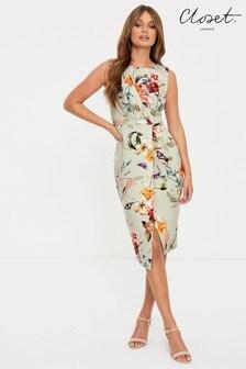 Платье с запахом и драпировкой спереди Closet