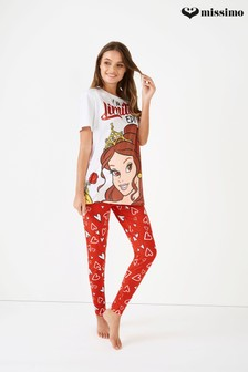 Missimo Nightwear Slogan Princes PJ Set