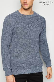 New Look Raglan Tuck Stitch Crew Neck Jumper