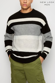 New Look Textured Monochrome Drop Shoulder Jumper