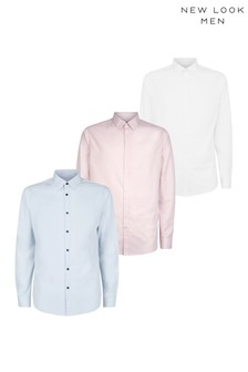 New Look 3 Pack Formal Poplin Shirt