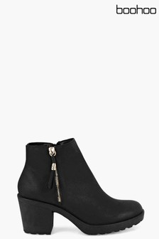 Boohoo Amy Side Zip Boot