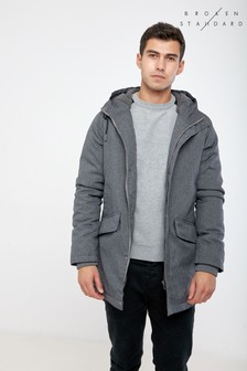 Broken Standard Hooded Parka Jacket