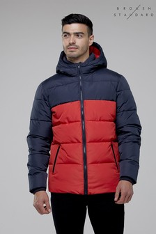 Broken Standard Colour Block Quilted Jacket