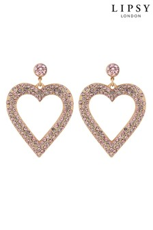 Lipsy Pave Abstract Heart Drop