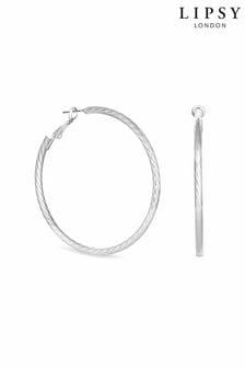 Lipsy Jewellery Diamond Cut Hoop Earrings