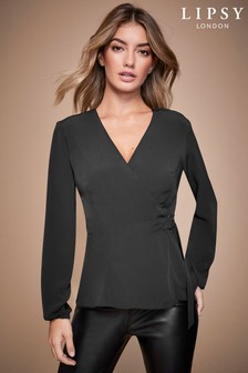 Lipsy Long Sleeve D-Ring Top